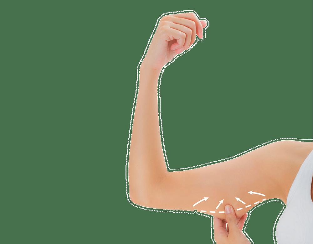 Verjüngen und schlank die Arme